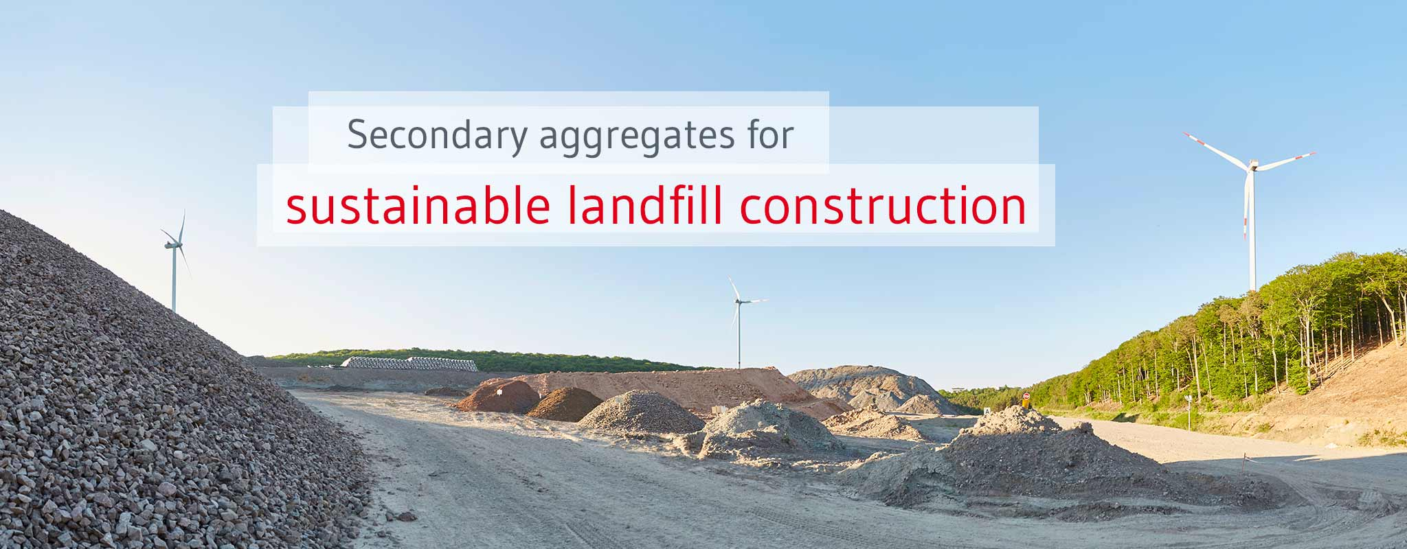 Sustainable landfill construction with secondary landfill materials.